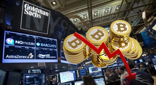 Аналитики из Goldman Sachs предупреждают клиентов о том, что Биткоин рухнет ниже отметки в $5922.
