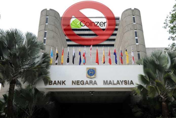 Центральный банк Малайзии готов наказать криптокомпанию Coinzer за использование неутверждённого логотипа