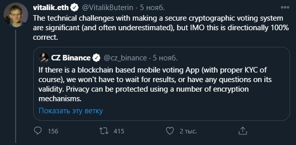 выборы сша блокчейн