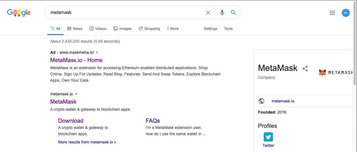 Реклама мошенников в Гугле