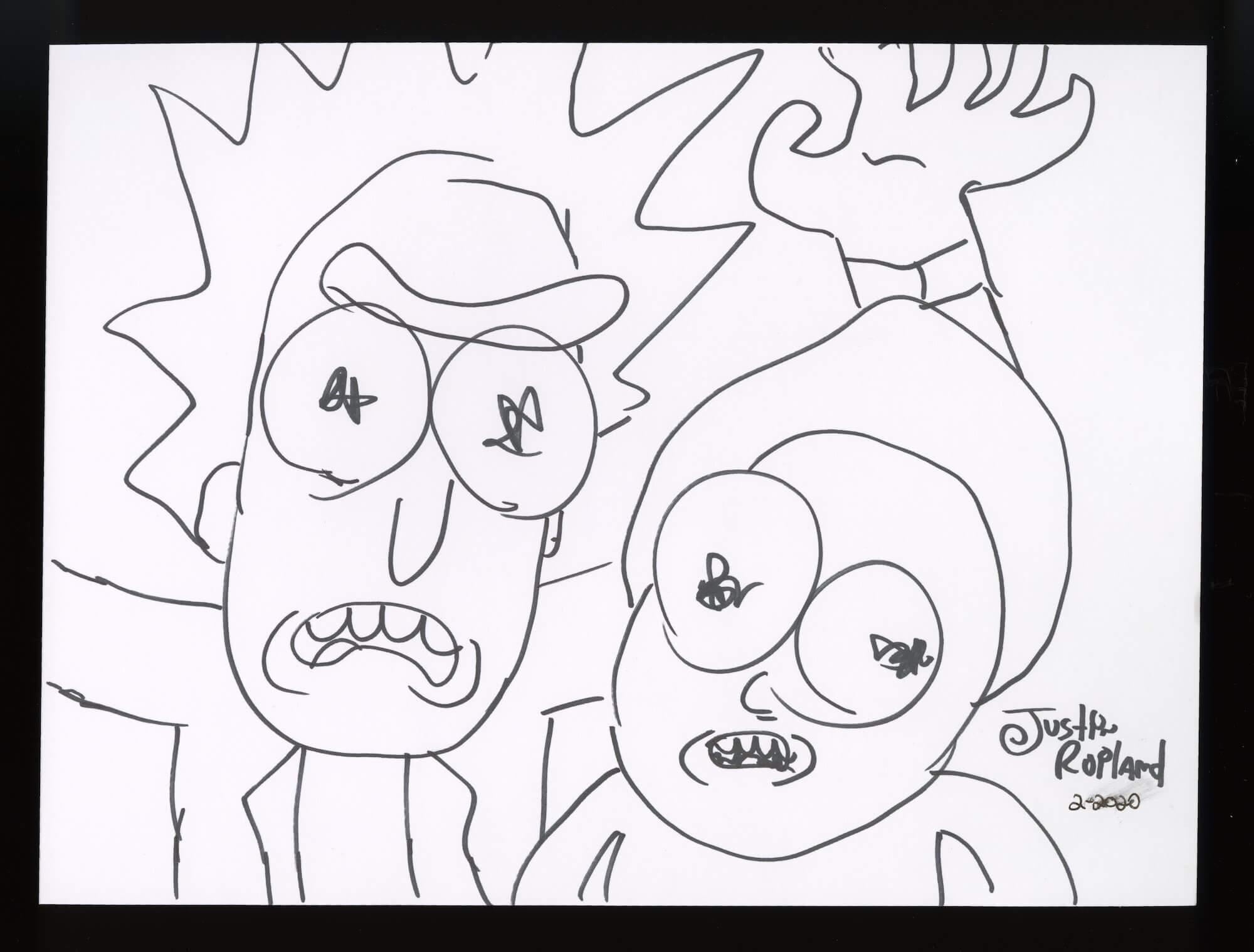 Рик и Морти рисунок