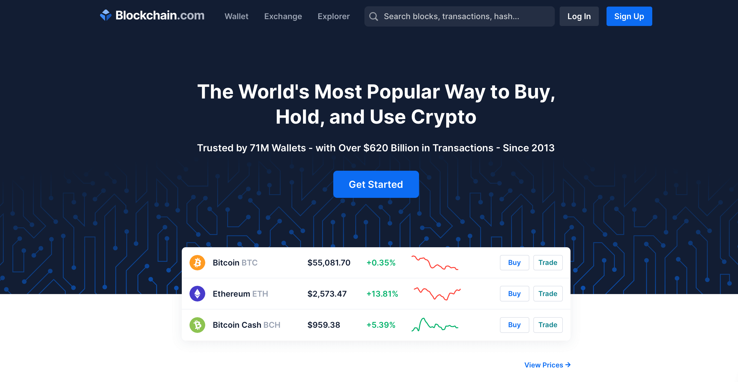 Blockchain.com сайт