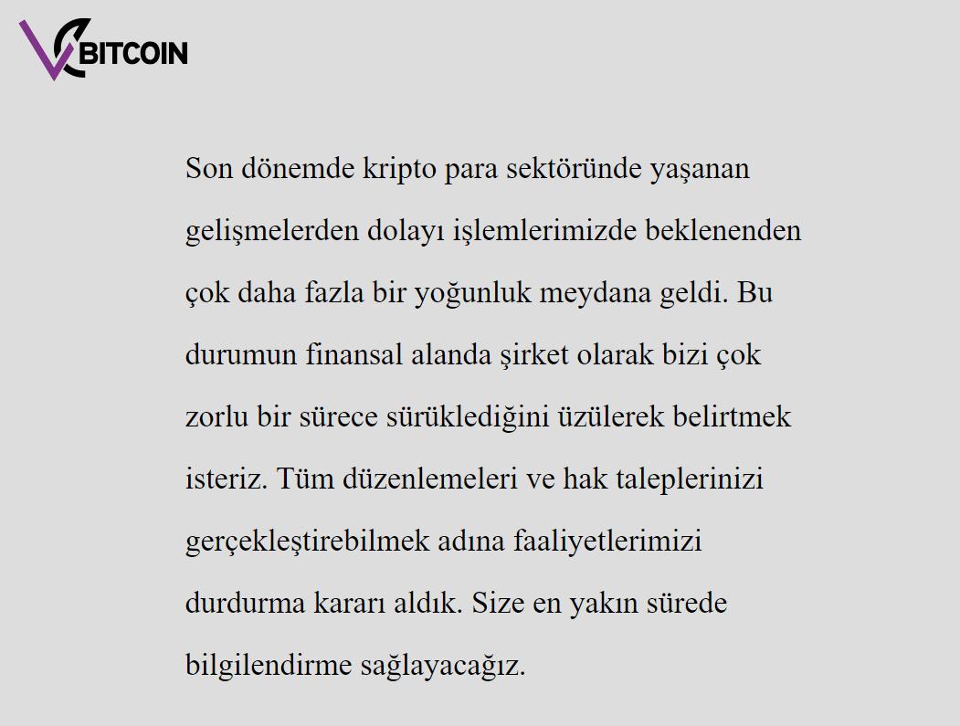 Vebitcoin биржа трейдинг криптовалюты Турция