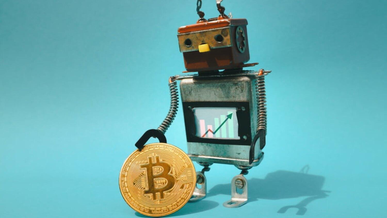 Робот Биткоин монета криптовалюта