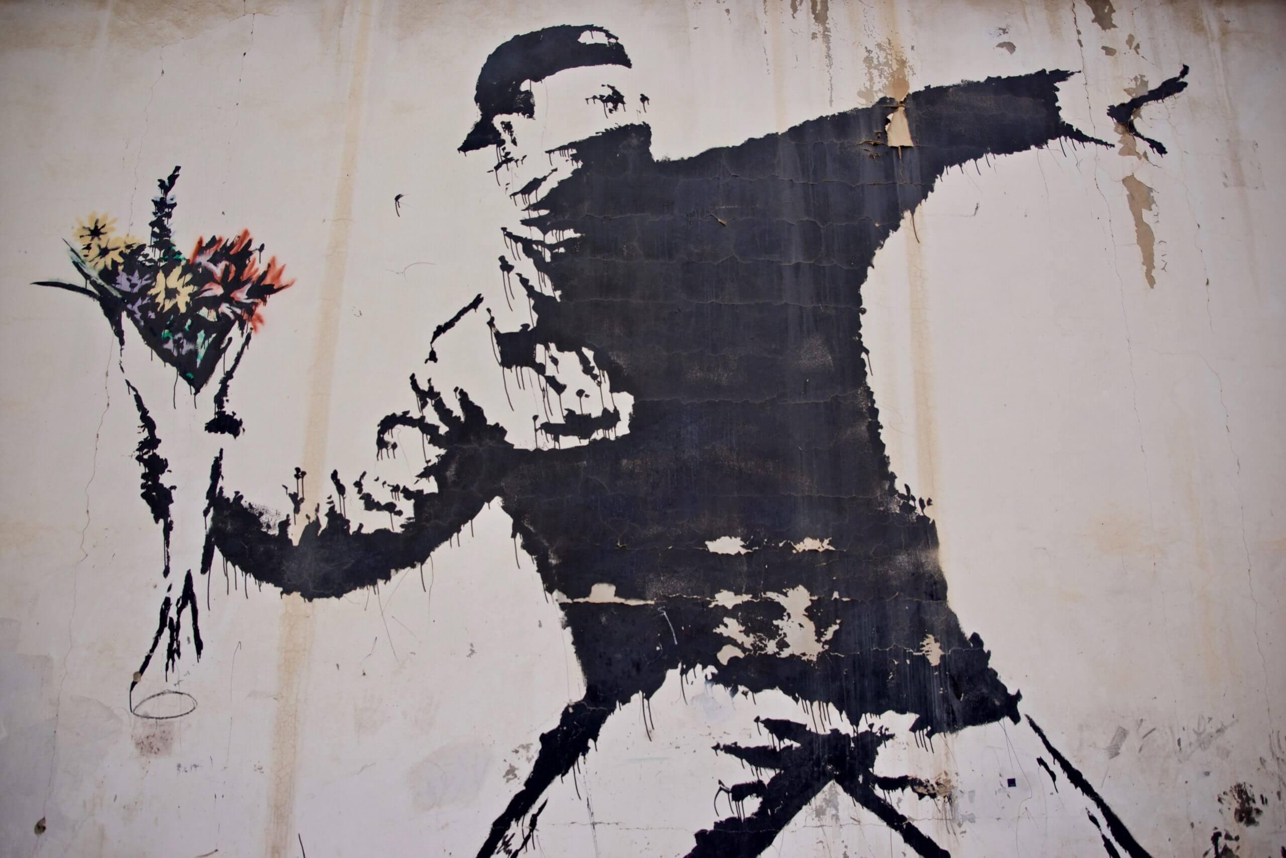 картина арт Banksy художник