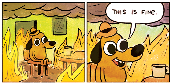 мем this is fine