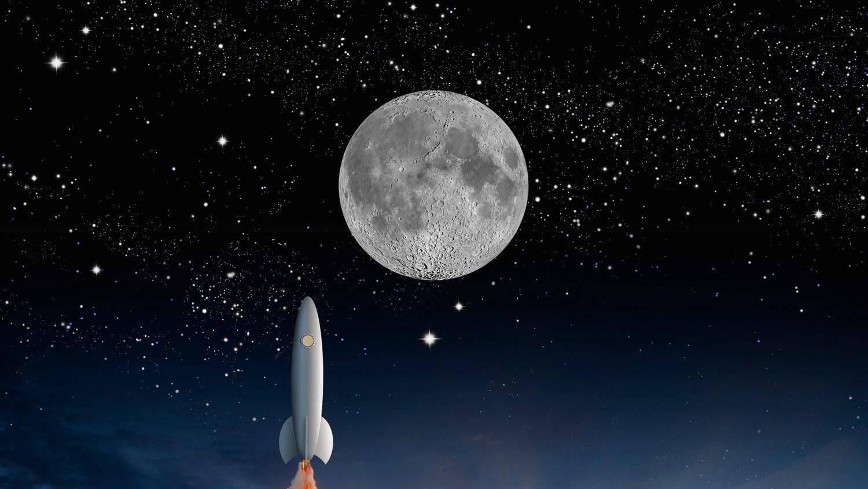 Луна ракета рост полет